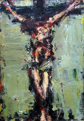 Painting of Jesus by Tomek Morawski